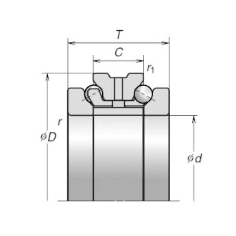 Подшипники шариковые упорно-радиальные двухрядные с углом контакта 60° чертеж 2